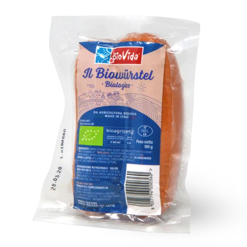 Biowurstel in budello 2 pezzi gr. 180